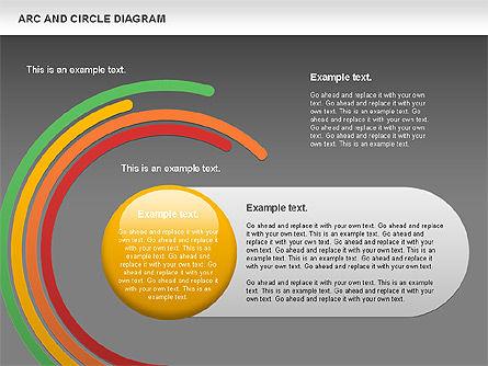 Arc and Circle Diagram, Slide 12, 01040, Shapes — PoweredTemplate.com