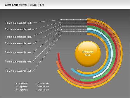 Arc and Circle Diagram, Slide 13, 01040, Shapes — PoweredTemplate.com
