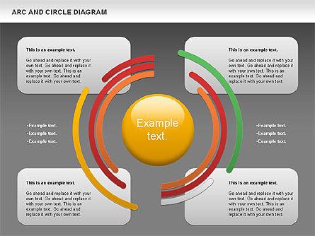 Arc and Circle Diagram, Slide 14, 01040, Shapes — PoweredTemplate.com