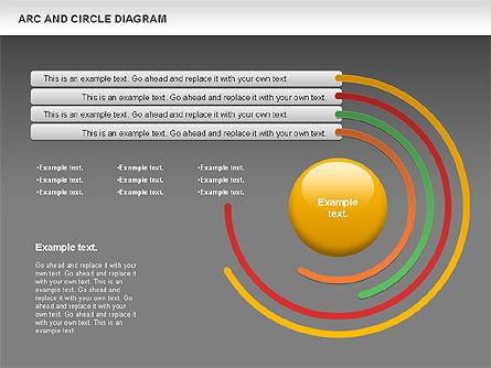 Arc and Circle Diagram, Slide 15, 01040, Shapes — PoweredTemplate.com