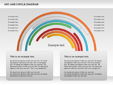 Arc and Circle Diagram, Slide 5, 01040, Shapes — PoweredTemplate.com