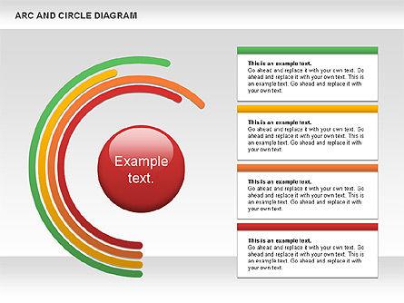 Arc and Circle Diagram, Slide 6, 01040, Shapes — PoweredTemplate.com