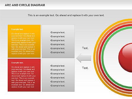 Arc and Circle Diagram, Slide 7, 01040, Shapes — PoweredTemplate.com