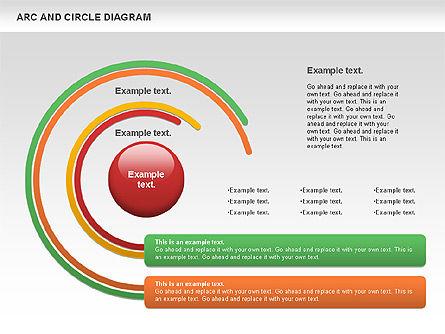 Arc and Circle Diagram, Slide 8, 01040, Shapes — PoweredTemplate.com