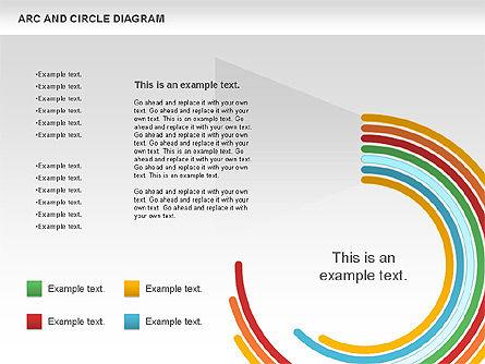 Arc and Circle Diagram, Slide 9, 01040, Shapes — PoweredTemplate.com