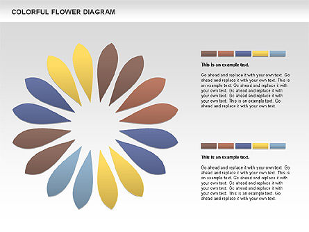 Colorful Flower, Slide 3, 01041, Business Models — PoweredTemplate.com