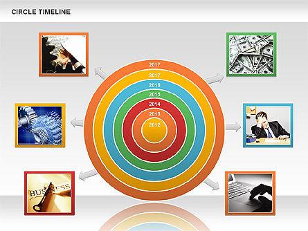 Circle Timeline, Slide 10, 01042, Timelines & Calendars — PoweredTemplate.com