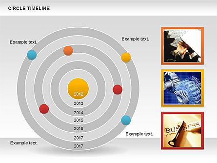 Circle Timeline, Slide 11, 01042, Timelines & Calendars — PoweredTemplate.com