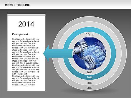 Circle Timeline, Slide 12, 01042, Timelines & Calendars — PoweredTemplate.com