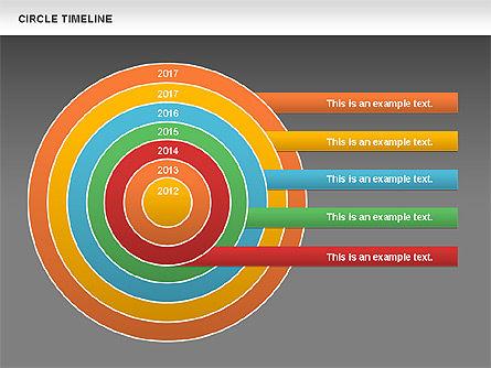 Circle Timeline, Slide 13, 01042, Timelines & Calendars — PoweredTemplate.com
