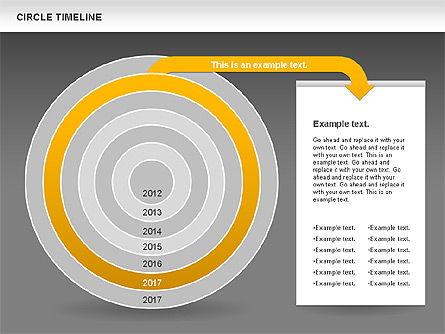 Circle Timeline, Slide 14, 01042, Timelines & Calendars — PoweredTemplate.com