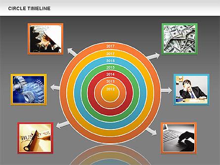 Circle Timeline, Slide 15, 01042, Timelines & Calendars — PoweredTemplate.com