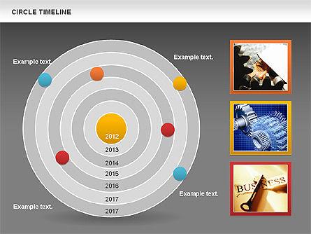 Circle Timeline, Slide 16, 01042, Timelines & Calendars — PoweredTemplate.com
