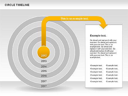 Circle Timeline, Slide 3, 01042, Timelines & Calendars — PoweredTemplate.com