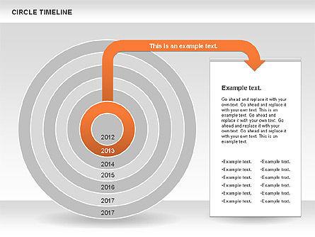 Circle Timeline, Slide 4, 01042, Timelines & Calendars — PoweredTemplate.com