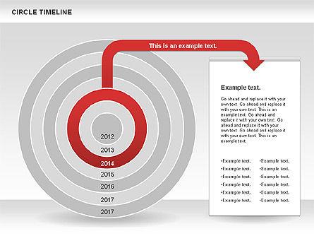 Circle Timeline, Slide 5, 01042, Timelines & Calendars — PoweredTemplate.com