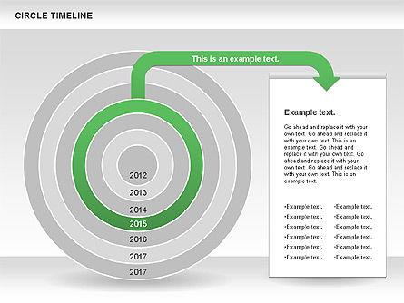 Circle Timeline, Slide 6, 01042, Timelines & Calendars — PoweredTemplate.com