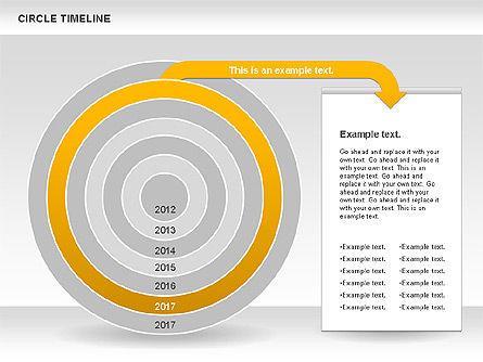 Circle Timeline, Slide 8, 01042, Timelines & Calendars — PoweredTemplate.com