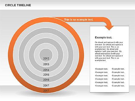 Circle Timeline, Slide 9, 01042, Timelines & Calendars — PoweredTemplate.com