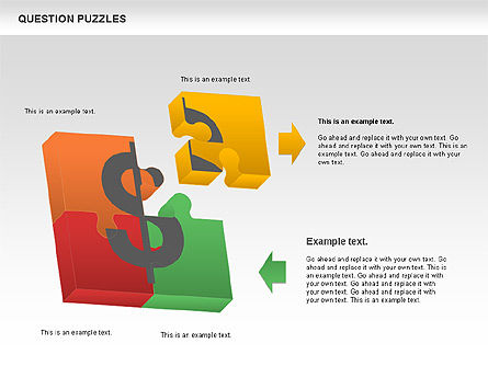 To Guess a Riddle Diagram, Slide 10, 01044, Puzzle Diagrams — PoweredTemplate.com