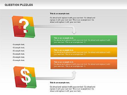 To Guess a Riddle Diagram, Slide 11, 01044, Puzzle Diagrams — PoweredTemplate.com