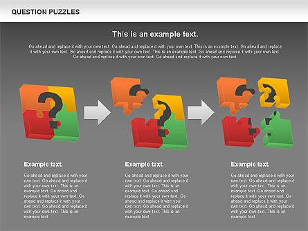 To Guess a Riddle Diagram, Slide 12, 01044, Puzzle Diagrams — PoweredTemplate.com