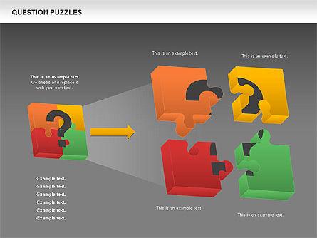 To Guess a Riddle Diagram, Slide 13, 01044, Puzzle Diagrams — PoweredTemplate.com