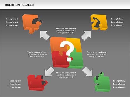 To Guess a Riddle Diagram, Slide 14, 01044, Puzzle Diagrams — PoweredTemplate.com