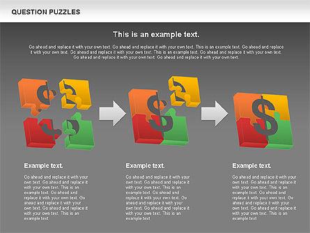 To Guess a Riddle Diagram, Slide 15, 01044, Puzzle Diagrams — PoweredTemplate.com