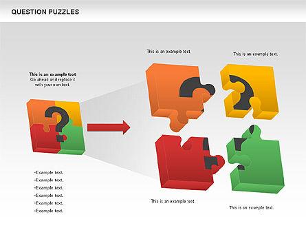 To Guess a Riddle Diagram, Slide 2, 01044, Puzzle Diagrams — PoweredTemplate.com