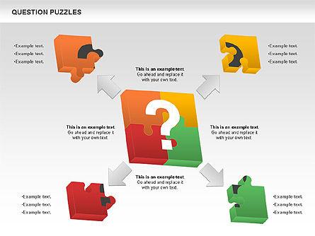 To Guess a Riddle Diagram, Slide 3, 01044, Puzzle Diagrams — PoweredTemplate.com
