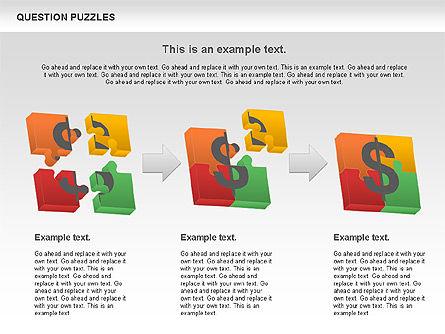 To Guess a Riddle Diagram, Slide 4, 01044, Puzzle Diagrams — PoweredTemplate.com
