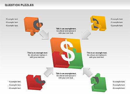 To Guess a Riddle Diagram, Slide 5, 01044, Puzzle Diagrams — PoweredTemplate.com