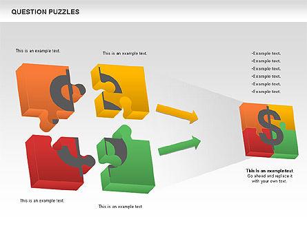To Guess a Riddle Diagram, Slide 6, 01044, Puzzle Diagrams — PoweredTemplate.com
