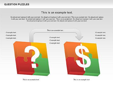To Guess a Riddle Diagram, Slide 8, 01044, Puzzle Diagrams — PoweredTemplate.com