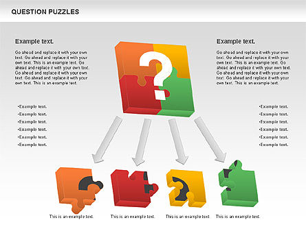 To Guess a Riddle Diagram, Slide 9, 01044, Puzzle Diagrams — PoweredTemplate.com