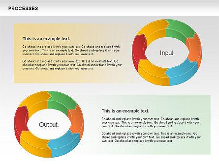 Process Donut Chart, Slide 11, 01046, Process Diagrams — PoweredTemplate.com