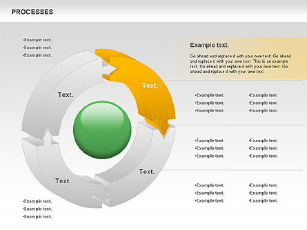 Process Donut Chart, Slide 2, 01046, Process Diagrams — PoweredTemplate.com
