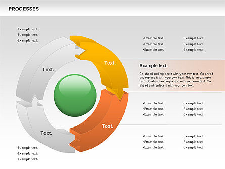 Process Donut Chart, Slide 3, 01046, Process Diagrams — PoweredTemplate.com