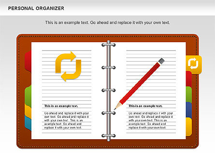 Personal Organizer, Slide 2, 01048, Shapes — PoweredTemplate.com