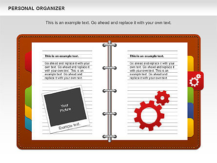 Personal Organizer, Slide 3, 01048, Shapes — PoweredTemplate.com