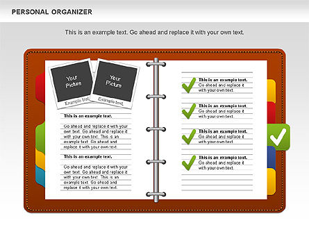Personal Organizer, Slide 4, 01048, Shapes — PoweredTemplate.com