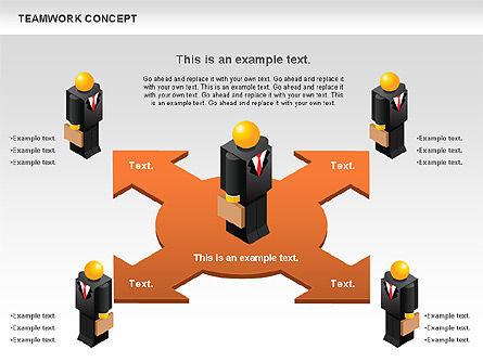 Teamwork Concept, Slide 11, 01049, Business Models — PoweredTemplate.com