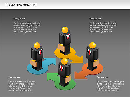 Teamwork Concept, Slide 12, 01049, Business Models — PoweredTemplate.com