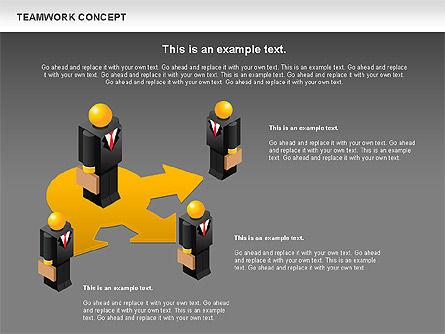 Teamwork Concept, Slide 13, 01049, Business Models — PoweredTemplate.com