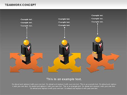 Teamwork Concept, Slide 14, 01049, Business Models — PoweredTemplate.com