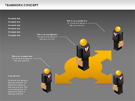 Teamwork Concept, Slide 15, 01049, Business Models — PoweredTemplate.com