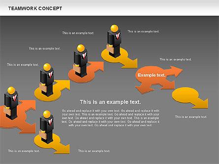Teamwork Concept, Slide 16, 01049, Business Models — PoweredTemplate.com