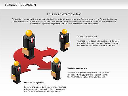 Teamwork Concept, Slide 2, 01049, Business Models — PoweredTemplate.com