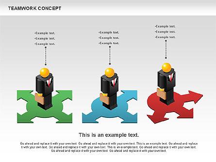 Teamwork Concept, Slide 3, 01049, Business Models — PoweredTemplate.com